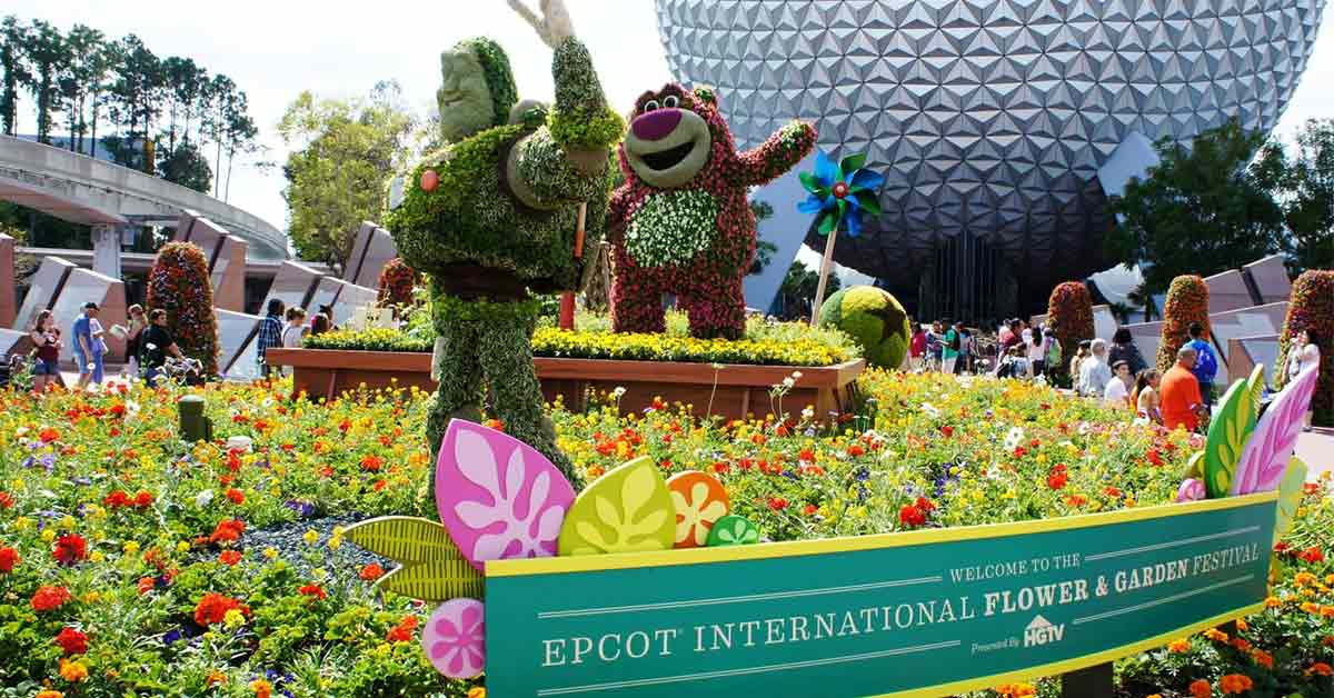 Attend the Epcot International Flower and Garden Festival